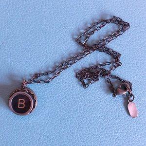 🛍 3/$20 B Vintage Typewriter Key Necklace